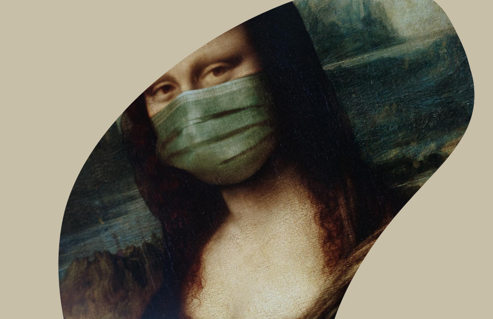 Mona Lisa mit Maske, Credit: Canva