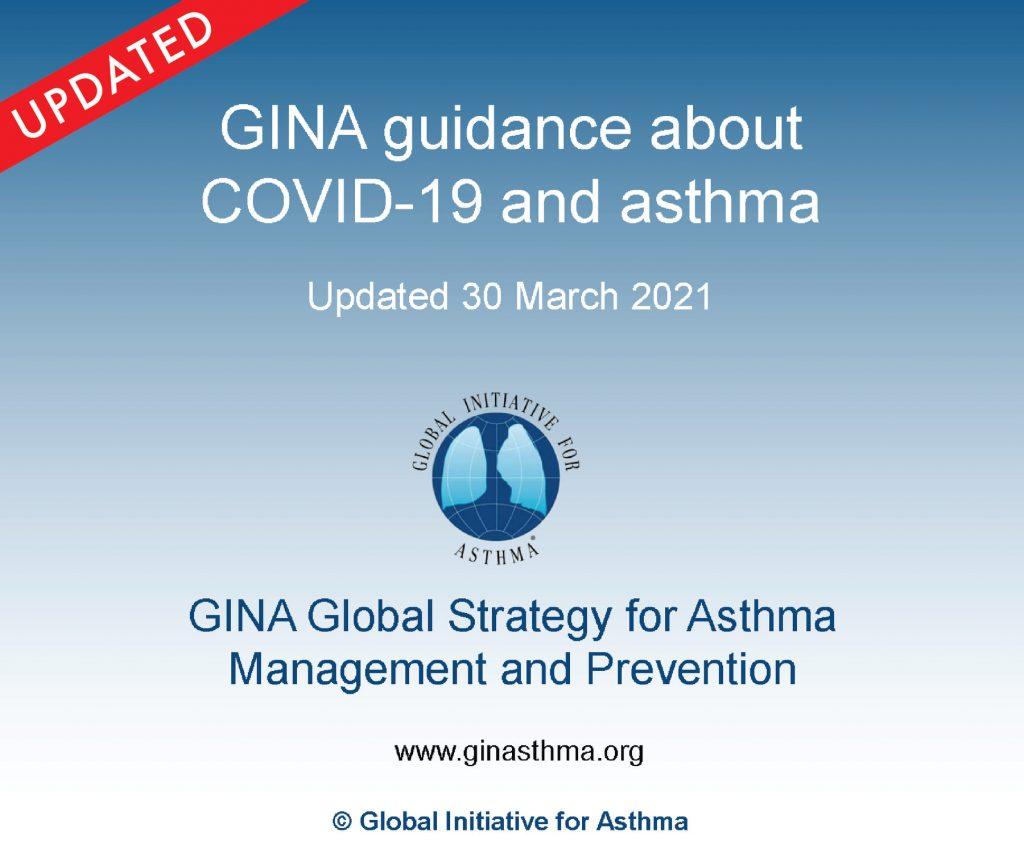 Die Global Initiative for Asthma (GINA) aktualisierte ihre vorläufige Leitlinien zu COVID-19 und Asthma, einschließlich neuer Ratschläge zu COVID-19-Impfstoffen. Credit: GINA