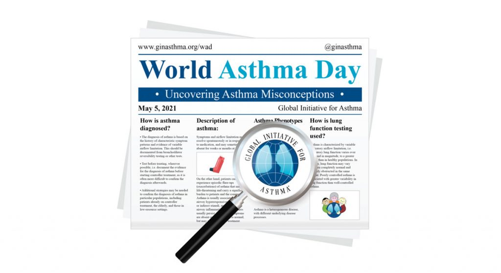 Visualisierung Welt-Asthma-Tag, Credit: Global Initiative for Asthma (GINA)